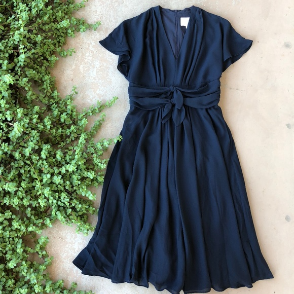 4f111f1e8a275 Gal Meets Glam Dresses & Skirts - Gal Meets Glam Jane Tie Waist Navy Midi  Dress